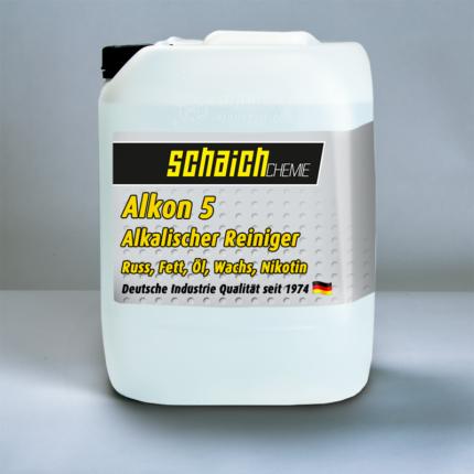 Schaich Chemie Alkon 5 Konzentrat 1 alkon 5 alkalischer reiniger hartnaeckige verkrustungen russ fett oel wachs nikotin schaich chemie