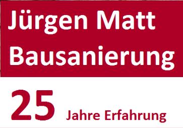 Das Logo der Firma Jürgen Matt Bau- und Dachsanierung.
