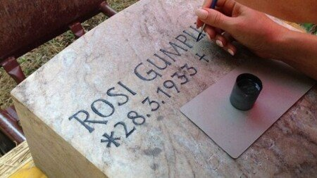 Grabinschrift erneuern, renovieren, nachmalen, nachzeichen